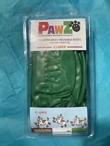 PawZ Protex Dog Boots Water-Proof Paws Disposable Reusable X-Large Green Open Bo
