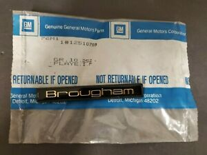NOS Chevrolet Caprice Brougham Nameplate Emblem Black and Gold 12510789