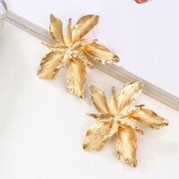 Statement Fashion Jewelry Party Earrings Ear Stud Gift Women Big Flower Dangle