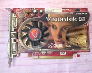 VisionTek X1550 512MB VT-X1550512PCIe X1550XGE PCIe PCI XGE Video Card