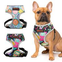 Small Medium Dog Harness Reflective Mesh Padded Pet Vest French Bulldog Corgi
