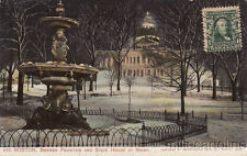 * BOSTON - Brewer Fountain and State House at Night 1906
