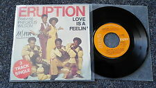 Eruption featuring Precious Wilson - Love is a feelin' 7'' Single