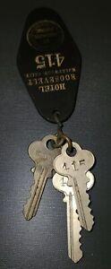 Antique Hotel Roosevelt Key Fob & 3 Keys Vintage Hollywood, California #415
