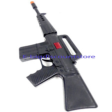 Plastic Machine Gun Rifle Toy as Military Army Soldier Gun Automatic Fire Sound