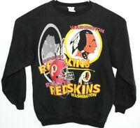 Vtg Magic Johnson T's NFL Washington Redskins Black Pullover Sweatshirt Sz L/XL