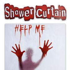 Shower Curtain Bathroom Help Me Horror Psycho Bloody Hand 180X 180 cm