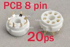20ps 8 pin PCB tube socket  ceramic gold plated KT88  EL34  6SN7  ...