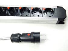 Highend ALU 6-fache Netzleiste Steckdosenleiste 1,5m Lapp Netzkabel Distributor