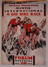 6 DAY BIKE RACE MONTREAL INTERNATIONAL Oct 1933 Official PROGRAM HS1002001117