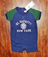 "NEW NWT Baby Boys Ralph Lauren ""RL VARSITY"" Shortall Romper SZ6M $29.50"