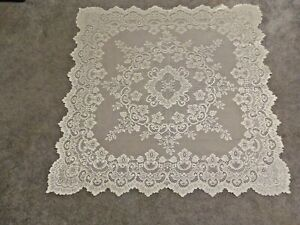 """Lace Table Topper Ivory Cleremont design 41"""" x 41"""""""