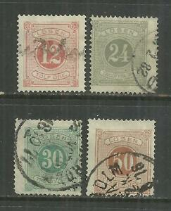 (W14) SWEDEN – 1874-82 Postage Dues Perf 14 Used Selection