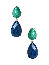 Amrita Singh Camella Turquoise Lapis Teardrop Real Housewives Earrings NEW