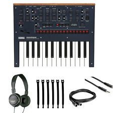 Korg Monologue 25-Key Monophonic Analog Synthesizer Blue + Headphones + Cables