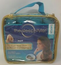 The Sleep Styler 8 Large Teal Absorbent Heat-Free Marshmallow Soft Rollers