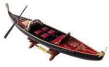 "Venetian Gondola Italian Rowing Boat Assembled 23"" - Built Handmade Wooden Model"