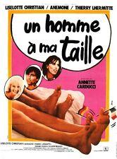 """Affiche 120 x 160 du film """"UN HOMME A MA TAILLE""""  Anemone , Thierry Lhermitte"""