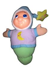 Vintage 2003 Playskool Glow Worm Gloworm Lullaby Musical Works blu purple green