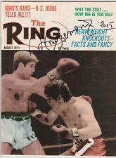 THE RING MAGAZINE NINO BENVENUTI AUTOGRAPHED-CARLOS MONZON COVER AUGUST 1971