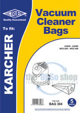 5 x KARCHER Vacuum Cleaner Dust Bags To Fit A2000, A2003, A2004, A2004-CCC