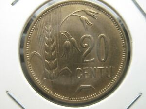 Lithuania 20 Centu 1925  XF Condition  !!!