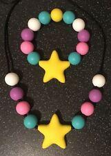 CHLOE Smaller Teething Bracelet Necklace Set Autism Sensory Chewing