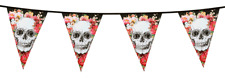 HALLOWEEN DAY OF THE DEAD FLAG BANNER MEXICAN FIESTA HANGING PARTY DECORATION