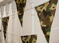 Camo Flags Bunting Army Military 10m 20 Flags Camouflage Boys Birthday Party