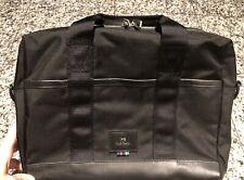Paul Smith PS Black Leather/Nylon Briefcase Attache Bag