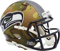 Riddell Seattle Seahawks Camo Alternate Revolution Speed Mini Football Helmet
