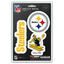 Pittsburgh Steelers Team Logo Set Of 3 Vinyl Sticker Decal Sheet