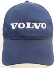 Vintage VOLVO CAR Automobile Logo Baseball Cap DARK NAVY BLUE / WHITE