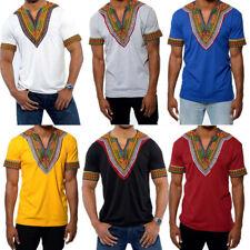 Stylish Men Shirt African Hippie Vintage Women Top Haute Tribal Blouse S-2XL