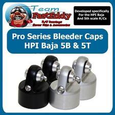 Team FastEddy HPI BAJA SHOCK BLEEDER CAP SET (2) SILVER 5B 5T