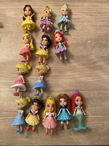 Girls Disney Princess Mini Figures Toddler Doll Lot of 13