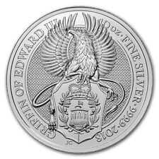 2018 Great Britain 10 oz Silver Queen's Beast The Griffin
