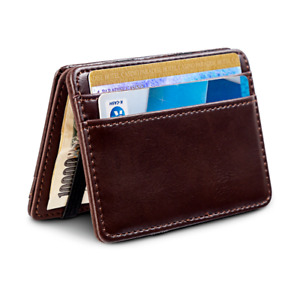 Slim Leather Wallet Credit ID Card Holder Purse Money Case for Men Bag Thin