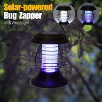 SOLAR ENERGIE INSEKTENLAMPE MOSKITO ZAPPER LAMPE MÜCKEN LATERNE