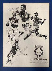 Muhammad Ali Joe DiMaggio Signed Poster 11x15 Namath Havlicek Autograph PSA/DNA