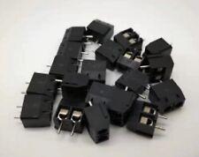 5pcs 2 Pin Terminal Block Connector PCB Vero Board KF301-2P smd 5mm pitch Black