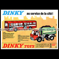 DINKY TOYS 1971 SINGLE DECKER BUS (283) JOHNSTON ROAD SWEEPER (451) Pub Ad #B387