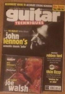 Guitar Techniques magazine & CD: August 1999