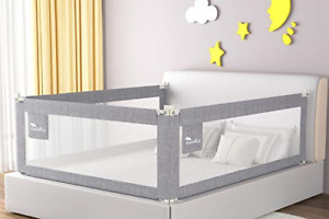 Luchild Toddler Bed Rail Guard, 180cm Vertical Lifting Bed Guard, Anti-Fall Baby