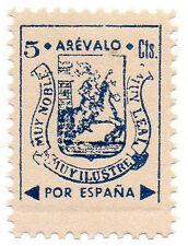 Sello Local Guerra Civil Arevalo -Cat. Galvez 71A variante.  ORD:30