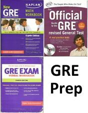 (Lot of 3) GRE Test Preparation Books: Math, Verbal, Guide, KAPLAN, ETS