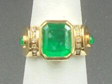 Beautiful Emerald 2.83 ct Ring 14k yellow gold with diamonds
