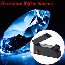 Black Gem Refractometer Gemological Gemstone Built-in LED Light Source + RI Oil