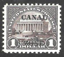 CANAL ZONE #81 VF MNH OG $1 LINCOLN MEMORIAL (#571) -TYPE A - PF CERT (REM-81C)
