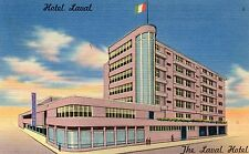 Mexico Hotel Laval Hermosillo old linen ads postcard